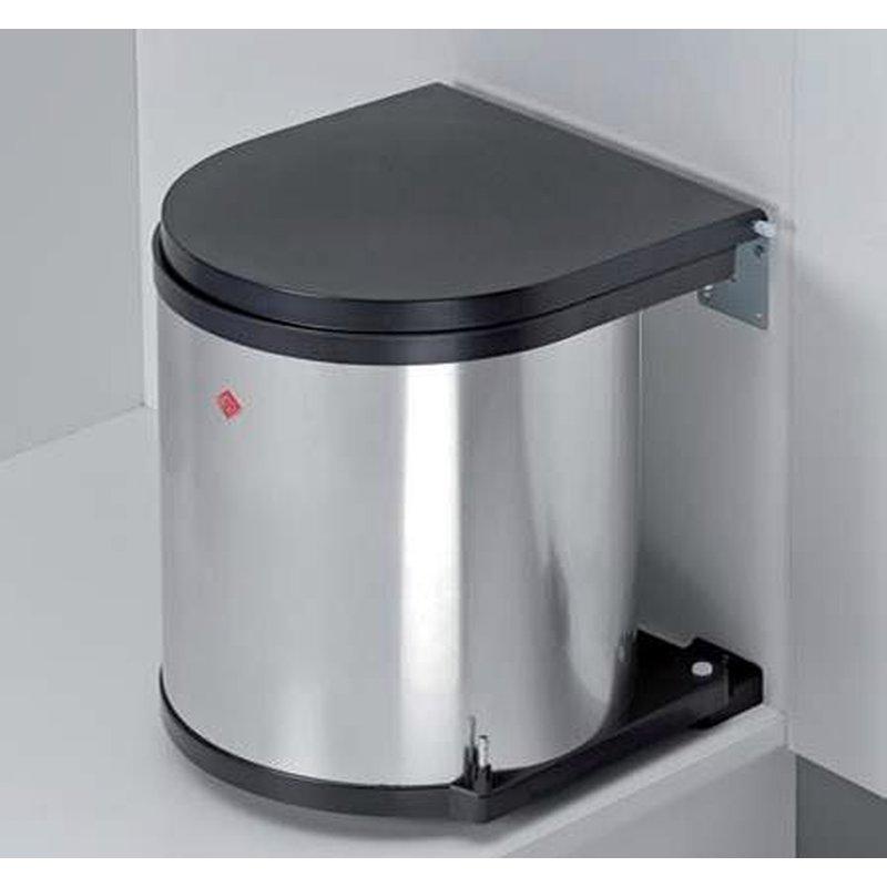 wesco 010114 42 abfallsammler 11 liter rund edelstahl 18 90. Black Bedroom Furniture Sets. Home Design Ideas